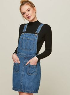 79ecc4763b 21 Best denim pinafore looks images