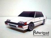 1987 Honda Civic EF Paper Car Free Vehicle Paper Model Download