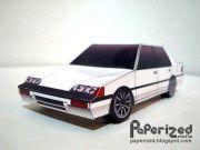 1987 Honda Civic EF Paper Car Free Vehicle Paper Model Download