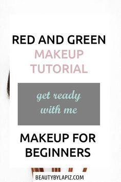 Green eyeshadow tutorial for brown eyes. Makeup for beginners. Red and green mak. - Green eyeshadow tutorial for brown eyes. Makeup for beginners. Red and green makeup tutorial - Contouring Step By Step, Tutorial Contouring, Contouring For Beginners, Makeup Tutorial For Beginners, Beginner Makeup, Make Up Tutorials, Best Makeup Tutorials, Foundation Makeup, Makeup Tutorial Foundation
