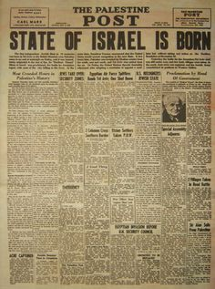 Israeli History: Israel Declaration Independence 1948 with Original MP3 Recordings of David Ben-Gurion Reading Declaration Independence