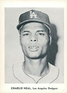 1960 Jay Publishing Los Angeles Dodgers #NNO Charlie Neal Front