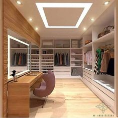 ғor мore pιnѕ A selection of 14 walk in closet designs that are both elegant and charming. Bedroom Closet Design, Master Bedroom Closet, Home Room Design, Closet Designs, Dream Home Design, Diy Bedroom, Bathroom Closet, Modern Bedroom, Bedroom Furniture