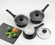 Black Toaster, Tasty Meals, Pan Set, Argos, Geo, 3 Piece, Dishwasher, Yummy Food, Strong
