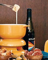 Classic Cheese Fondue recipe, which always make for a good party dish or theme, and again, Food and Wine provides a Wine Pairing Suggestion.