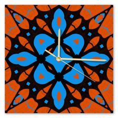 Clock Samba, Sunday, Clock, Symbols, Retro, Diamond, Wall, Painting, Watch