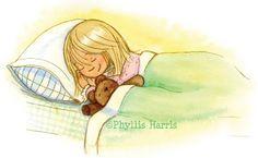 Phyllis Harris Illustration: Asleep - Illustration Friday