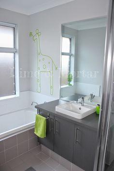 Lime & Mortar Kids Bathroom - lime & grey