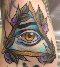 All seeing eye tattoo - Ebony Mellowship All Seeing Eye Tattoo, Back Pieces, Skin Art, Illuminati, Art Forms, Old School, Tattoo Ideas, Projects To Try, Ink