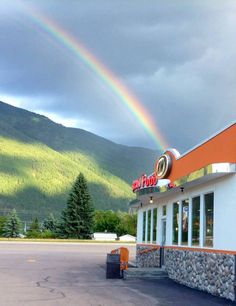 A pot of gold (A & W Restaurants) at the end of the rainbow :) -Columbia Falls and Polson, MT