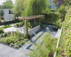 Strakke landelijke tuin tuin tuin tuin ideeën en