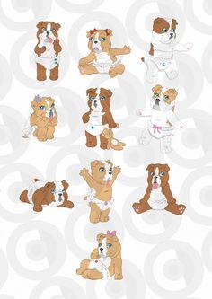 Clipartopolis.com - Heaven di Digitizer Adorable Puppies, Dog Crafts, Cartoon Dog, Puppy Pictures, Cold Porcelain, Craft Fairs, Cute Drawings, Cute Animals, Heaven