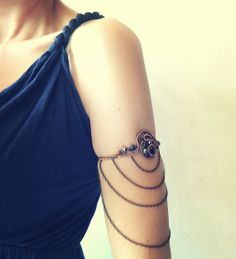 Steampunk Upper Arm Cuff Bracelet/Armlet With by MayaHandmade, $75.00