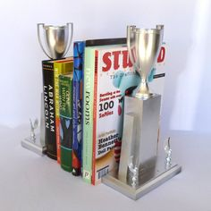 Upcycled VINTAGE TROPHY BOOKENDS. $28.00, via Etsy.