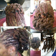 Maintenance drop pipe curls n bun..