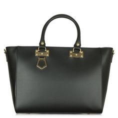 cool Daniella Black Leather Top Zip Tote Bag Check more at http://arropa.net/uk/accessories/product/daniella-black-leather-top-zip-tote-bag/