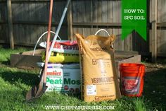 ChippaSunshine: How To: Square Foot Gardening Soil