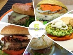"""Tras la primera parte de """"Recetas de hamburguesas caseras"""" (VER PRIMERA PARTE) llega la segunda entrega con 5 recetas más hechas por los miembros de R"""