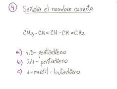 Ejercicio propuesto 04, formulación orgánica de Alquenos. Ejercicio de múltiple opción.