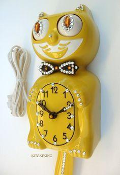 VINTAGE 1950s mid century felix cat clock