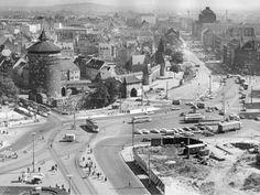 Plärrer während der großen Umgestaltung um 1962 Nürnberg Nuremberg Germany Alemania Deutschland