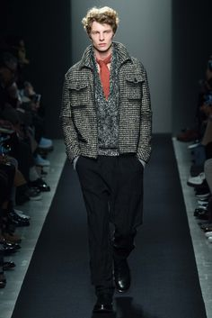 coat, sweater, pants, shoes, everything Bottega Veneta Fall 2015 Menswear - Collection - Gallery - Style.com