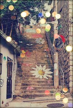 floral stairs..