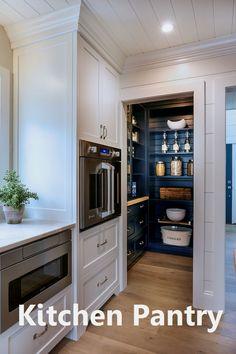 Kitchen Pantry Design, Diy Kitchen, Kitchen Interior, Home Interior Design, Kitchen Decor, Kitchen Cabinets, Kitchen Shelves, Kitchen Countertops, Kitchen Ideas
