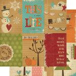Memory Works - Simple Stories - Year-o-graphy Collection - 12 x 12 Double Sided Paper - Vertical Journaling Card Elements