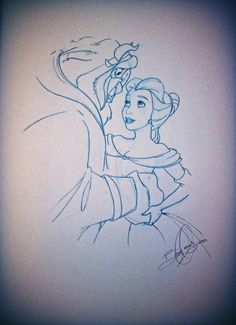 It was a good night to sketch beauty and the beast:)