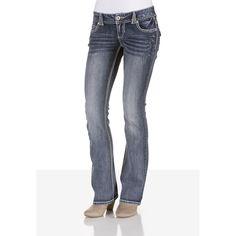 Denim Flex Medium Wash Jeans - maurices.com ($39) via Polyvore
