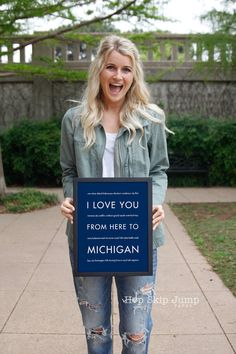 Michigan State Wolverines Gift, Michigan Dorm Decor, Housewarming Gift, I Love You From Here To MICHIGAN #NavyBlue #GiftIdea #Wolverines #ArtPrint #TravelPoster #MichiganTravelArt #MichiganWallDecor #DormDecor #MichiganPoster #MichiganArt