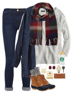 """""""I just ordered my first pair of bean boots!!!! I get them October 25"""" by thedancersophie ❤ liked on Polyvore featuring Frame Denim, J.Crew, L.L.Bean, Accessorize, Kendra Scott, MICHAEL Michael Kors, Cherokee, Dolce&Gabbana and Tory Burch"""