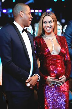 Beyoncé & Jay Z at The 59th Annual Grammy music Awards on February 12, 2017, in Los Angeles, California