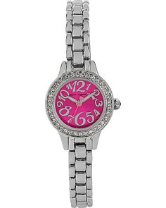 MINI PINK WATCH SILVER accessories jewelry watches fashion Betsey Johnson  Dresses f536641e40