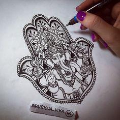 Hamsa Tattoo Design, Hamsa Hand Tattoo, Sternum Tattoo, Lotus Tattoo, Tattoo Designs, Sanskrit Tattoo, Samoan Tattoo, Little Tattoos, Mini Tattoos
