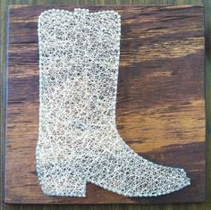 Personalized String Art Cowboy Boot by ShootnStitch on Etsy, $42.00
