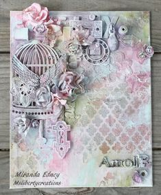 Msliberty Creations: Shimmerz Mixed Media Collage Canvas