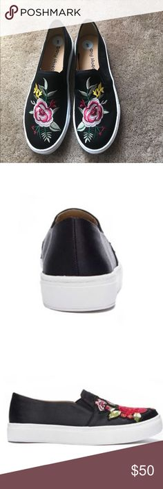 Dirty Laundry Shoes Joon Embroidered With a comfortable design and cut out appearance, the Dirty Laundry Shoes Joon Embroidered Slip On Sneakers in Black are a must for your wardrobe. These Dirty Laundry shoes for women will compliment your casual looks this season. Dirty Laundry Shoes