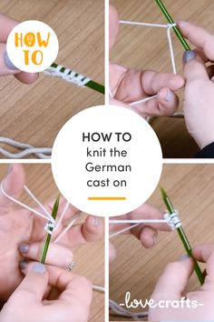 Learn how to knit the German cast on with our handy tutorial! | Learn with LoveCrafts.com