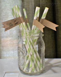 Straw labels