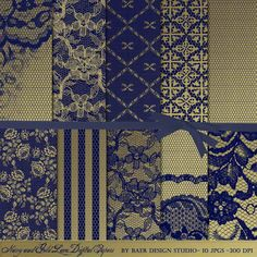 A personal favorite from my Etsy shop https://www.etsy.com/listing/235489056/navy-and-gold-digital-paper-navy-and
