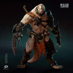 Fantasy Warrior, Fantasy Rpg, Dark Fantasy Art, Fantasy Races, Character Concept, Character Art, Concept Art, Armor Concept, Monster Design
