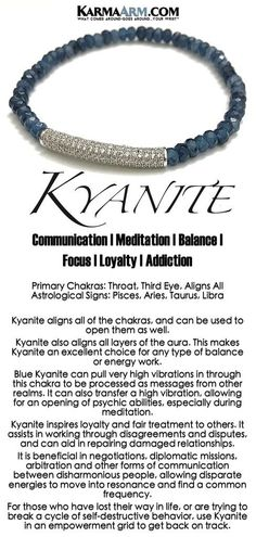 Kyanite Bracelets. BoHo Yoga Bracelets. Meditation Jewelry. Beaded Bracelets. #BoHo #BoHoBracelets #Blue #Kyanite #Auras #WomensJewelry #Bracelets #Gifts #Chakras #Meditation #Yoga #YogaBracelets #Reiki #Wisdom #BoHoJewelry #BeadedBracelets #YogaJewelry #CZ #Diamond