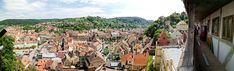 Sighisoara is a city - fortress located 290 km from Bucharest . The perfect destination for a city break or the first stop on a longer trip. Medieval Fortress, Bucharest, City Break, Romania, Wander, Paris Skyline, Dolores Park, Places To Visit, Travel