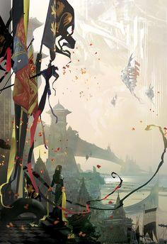 Book Covers Fantasy World, Fantasy Art, Space Fantasy, Science Fiction, Art Environnemental, Matte Painting, Fantasy Illustration, Environmental Art, Fantasy Landscape