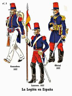 French Foreign Legion In Spain during the Carlist Wars 1837 by J Bueno