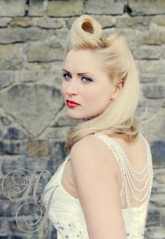 Retro hair & makeup with Harry Jon and photographed by Sue Westwood-Ruttledge