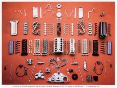 disassembled BWM Motorsport S70/2 V12 engine for the McLaren F1