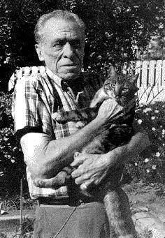 Charles Bukowski, gifted 20th century American writer, depressive and cat lover.
